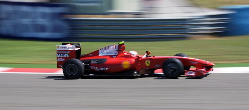 Kimi Raikkonen driving for Ferrari at the 2009 Turkish GP