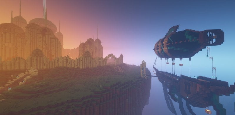 A preview of the new Minecraft realm in which Stratosfest will take place