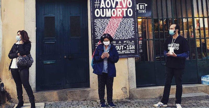 #AovivoOuMorto protesters in Viseu