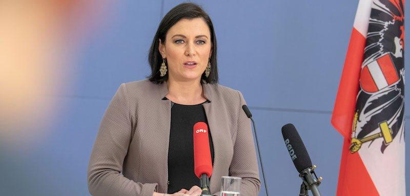 Austrian tourism minister Elisabeth Köstinger