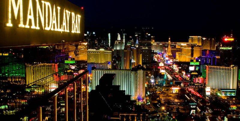 Las Vegas's Strip as seen from the Mandalay Bay