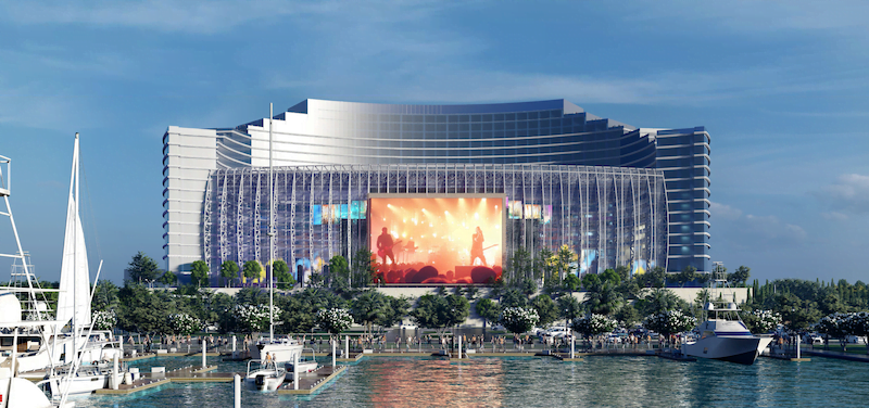 A rendering of the UMusic Broadwater Hotel in Biloxi