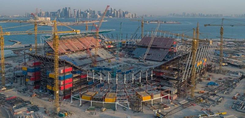 Qatar's Ras Abu Aboud Stadium is under construction