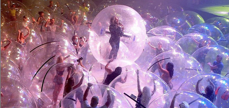 The band are the first to trial this bubble concept, which adheres to restrictions