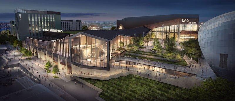 An artist's impression of the Newcastle Gateshead Quays regeneration