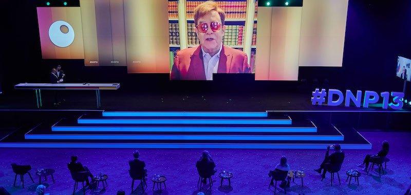German Sustainability Award winner Elton John sent a video message