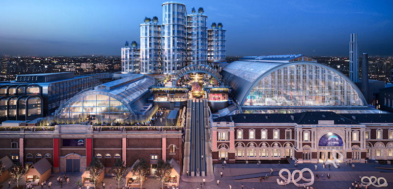The new Olympia venue will be located above the existing west exhibition hall