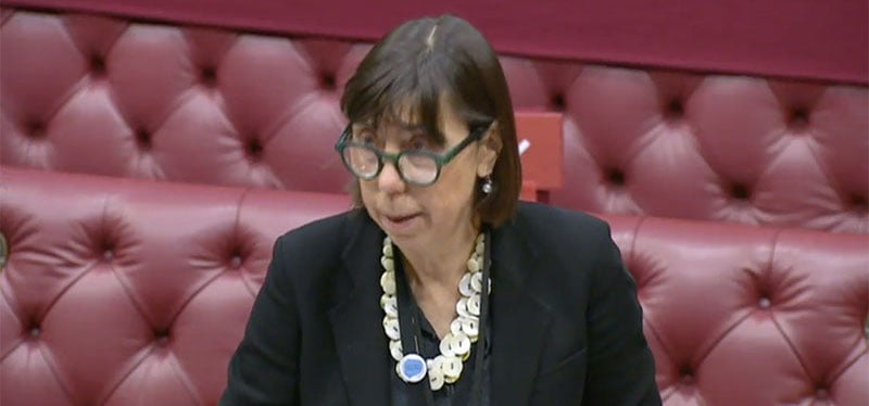 The Baroness Barran takes questions in parliament today