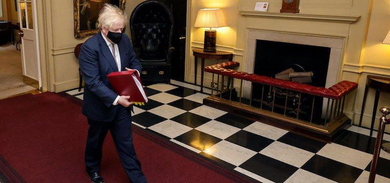 Boris Johnson leaving for PMQs on Wednesday