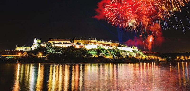 Fireworks over Petrovaradin Fortress
