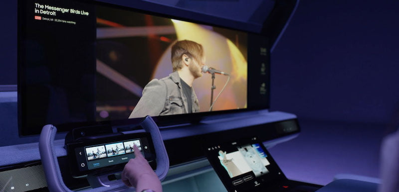 Harman's Drive-Live Concert concept allows fans to view shows from multiple cameras