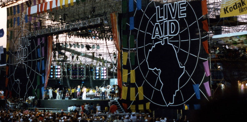 """The proposal has been dubbed """"Live Aid' after the 1985 concert held simultaneously in the UK and US"""