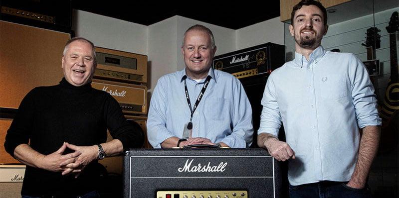 L–R: Marshall's Steve Tannett, Jonathan Ellery and Stuart Vallans