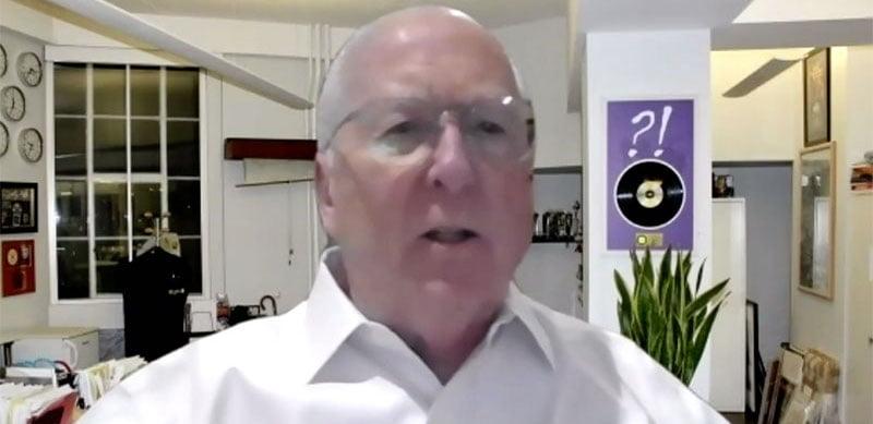 Neil Warnock speaking at the virtual ESNS