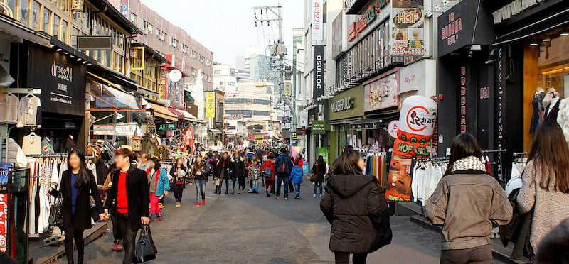 Hongdae is one of Seoul's most popular shopping and entertainment areas, but has been hit hard by lockdown and social distancing measures
