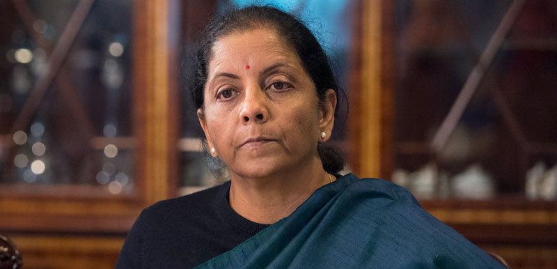 Indian minister of finance Nirmala Sitharaman