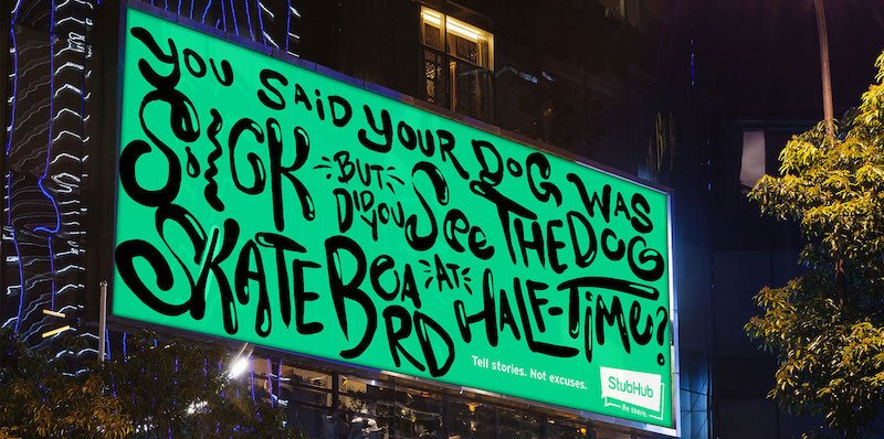 A StubHub ad in New York