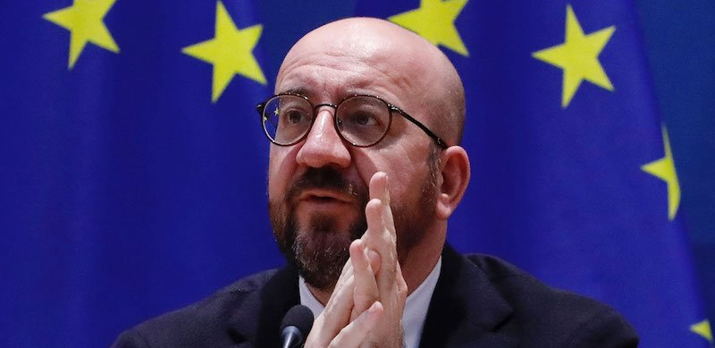 The letter is addressed to European Council president Charles Michel