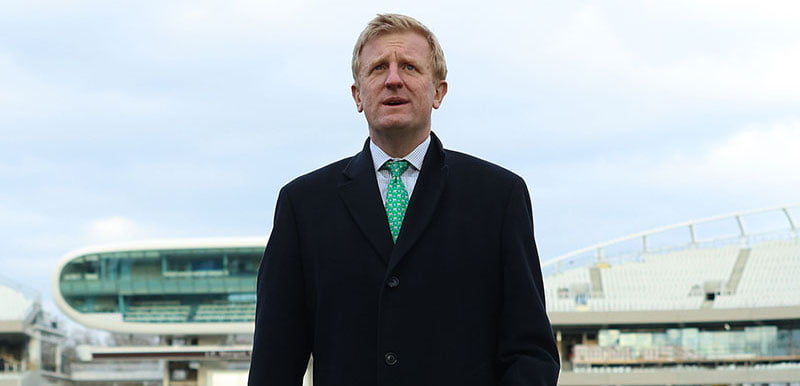Oliver Dowden visits the vaccination centre at Lord's cricket ground in December