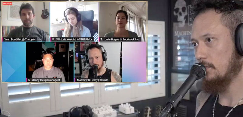 Matt Heafy streamed The Livestreamers' Guide to Live Music on his Twitch account