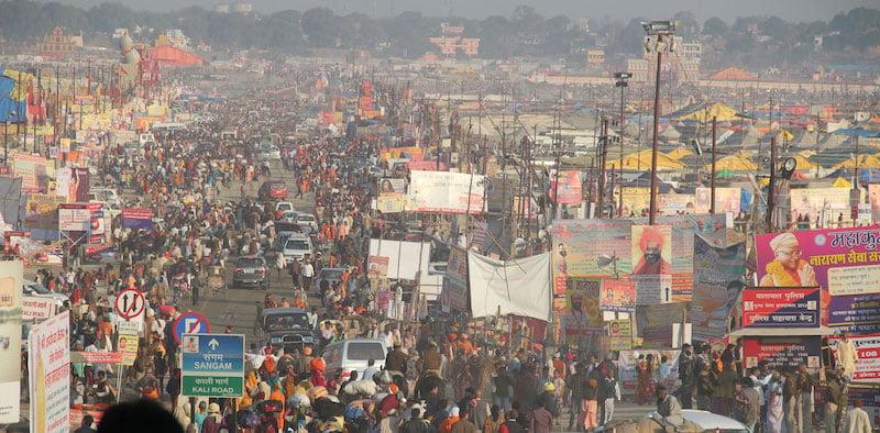 Pilgrims at Kumbh Mela 2013