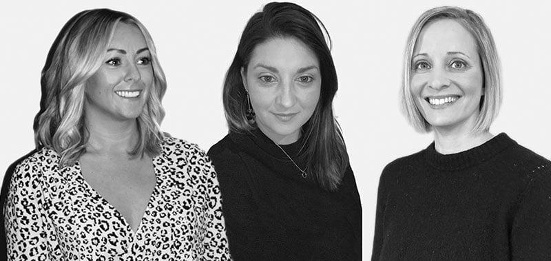 L–R: Becci Thomson, Katie Musham, Sara Tomkins