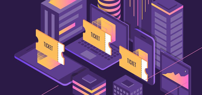 NFTs ticket graphic