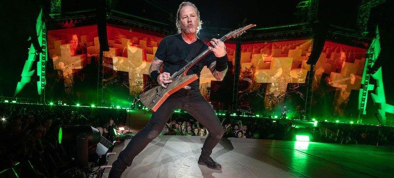 Metallica performing in Munich in August 2019