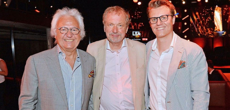 Lifetime achievement award winner Ossy Hoppe with Jens Michow and son Oliver