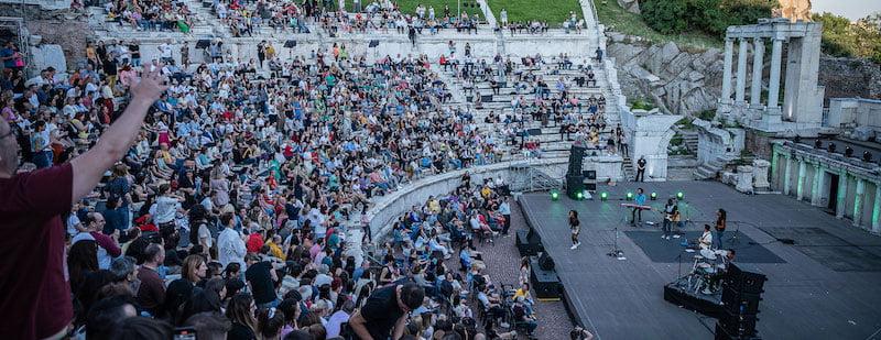 Sara Tavares performed in Plovdiv's Roman amphitheatre
