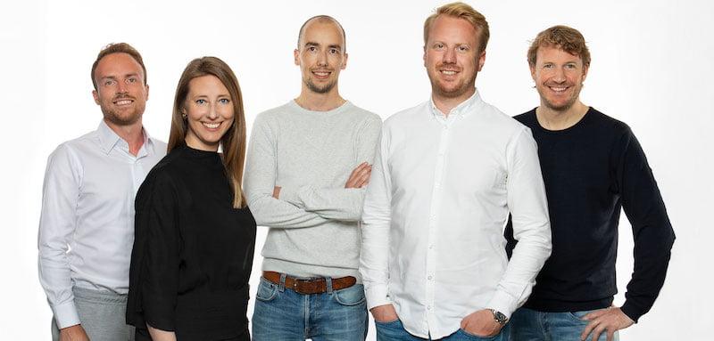TicketSwap CFO Mark Jager, COO Margriet Rijff, founder Ruud Kamphuis, CEO Hans Ober & CPO Frank Roor