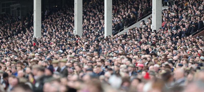 Racing fans at Cheltenham Festival 2020