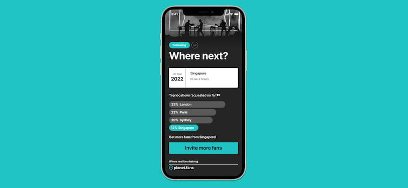 Planet allows fans to vote on tour locations