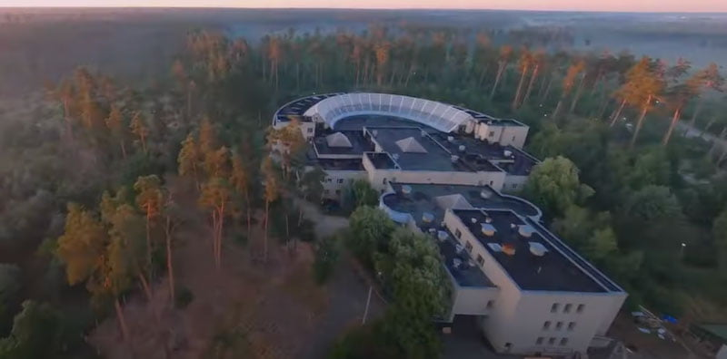 The festival stages were arranged across the sanatorium's territory