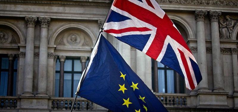 UK EU flags