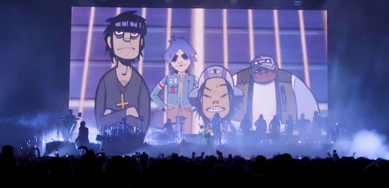 Gorillaz played a free show for NHS staff