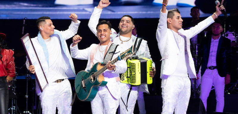 Grupo Firme on stage at Staples Center