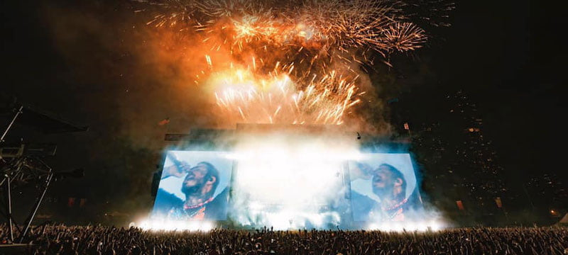 More than 750,000 people attended LN's Lollapalooza (pictured), Rolling Loud and Latitude festivals in 2021