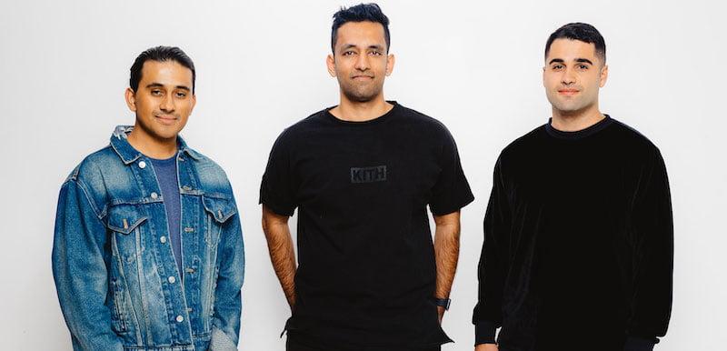 L–R: Moment House founders Arjun Mehta, Shray Bansal and Nigel Egrari
