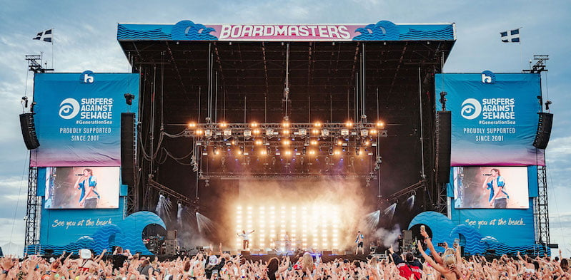 Boardmasters takes place in Watergate Bay, Newquay