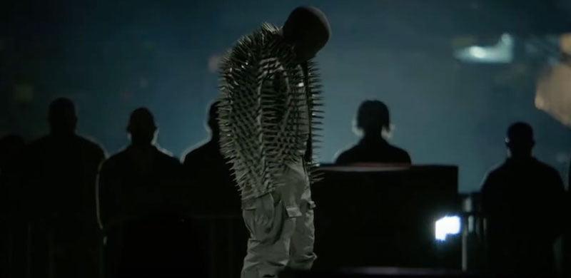 Kanye West previewing 'Donda' at the Mercedes-Benz Stadium, Atlanta