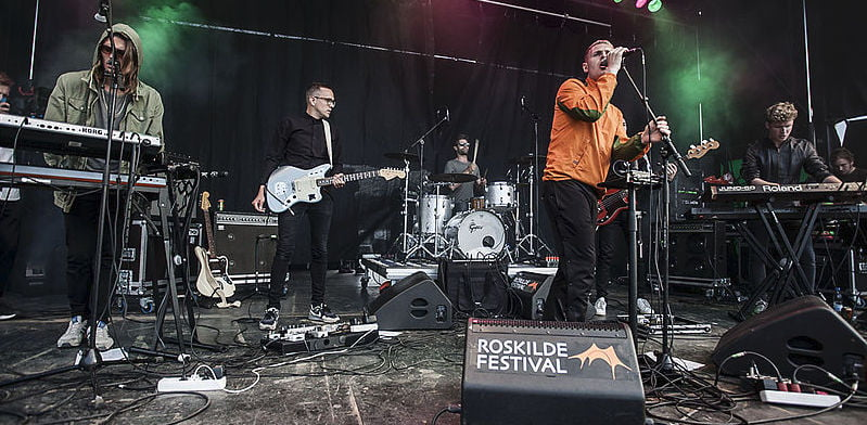 The Minds of 99 performing at Roskilde Festival, Denmark