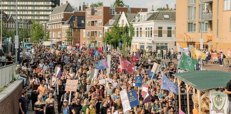 The Unmute Us demonstration in Groningen